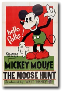 affiche mickey chasse elan Walt Disney Animation poster