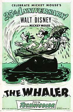 affiche mickey chasseur baleine Walt Disney Animation poster