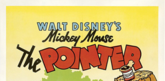 affiche mickey chien arret Walt Disney Animation poster