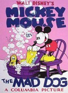 affiche mickey chien enrage Walt Disney Animation poster