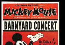 affiche mickey concert rustique Walt Disney Animation poster