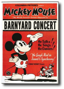 affiche mickey concert rustique Walt Disney Animation poster