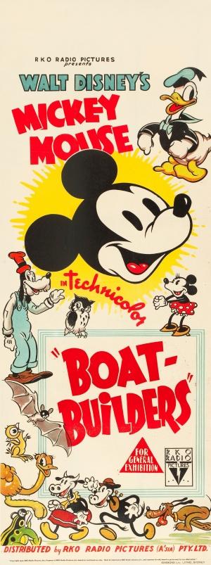 affiche mickey constructeur bateau Walt Disney Animation poster