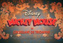 affiche mickey croissant triomphe Walt Disney Animation poster