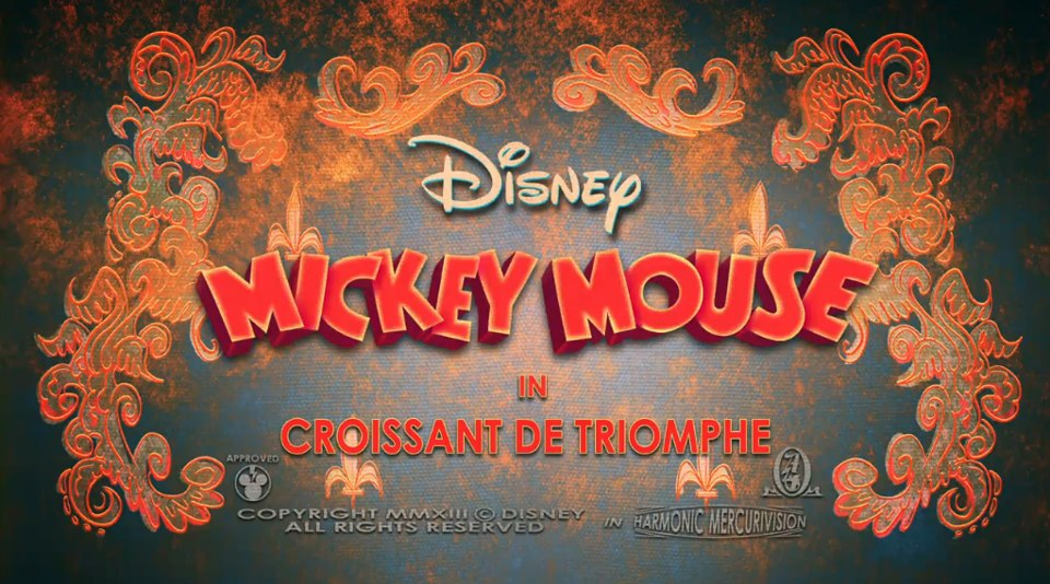 affiche mickey croissant triomphe Walt Disney Animation poster