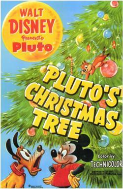 affiche mickey noel pluto- Walt Disney Animation poster