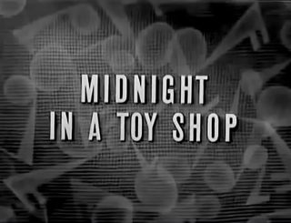 affiche poster midnight toy shop silly symphony disney