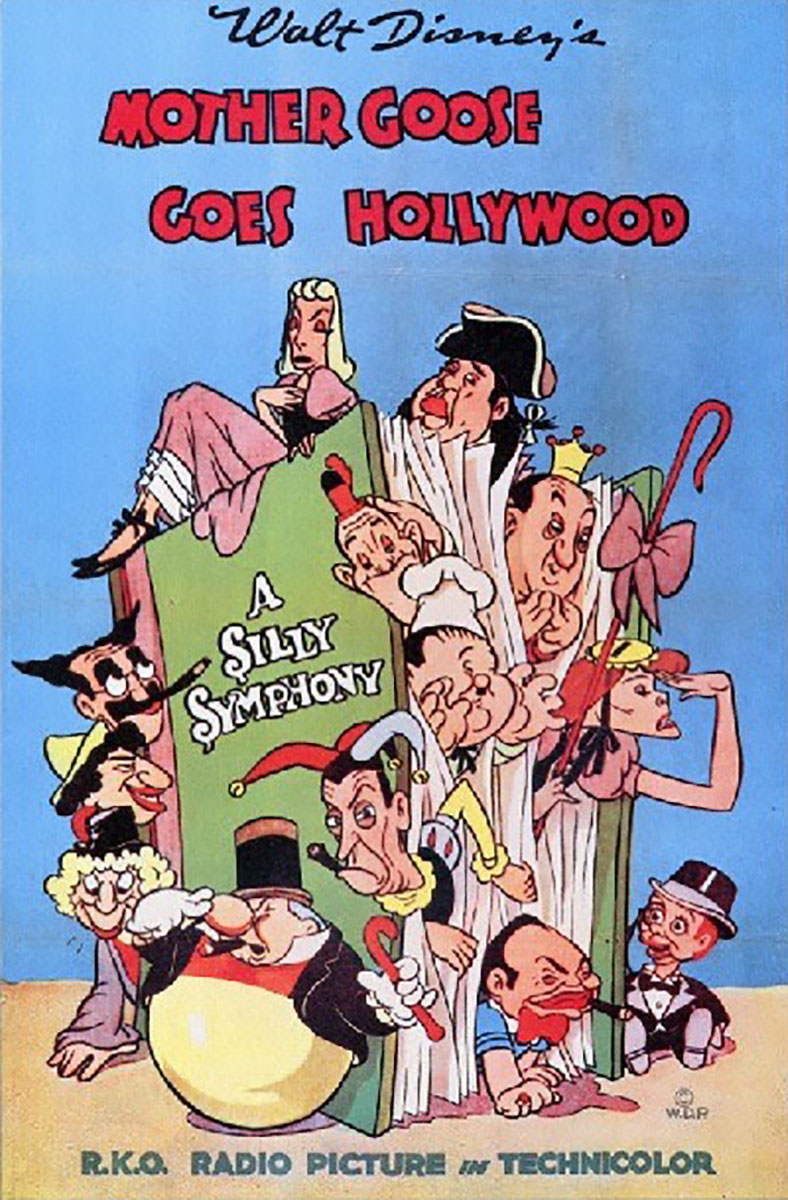 affiche poster mother goose goes hollywood disney silly symphony