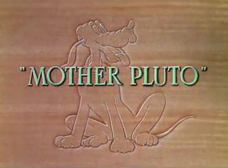 affiche poster papa mother pluto disney silly symphony