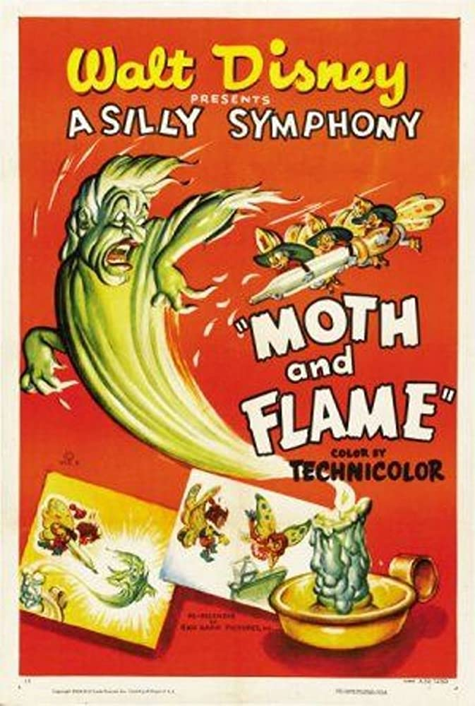affiche poster papillon flamme moth flame disney silly symphony