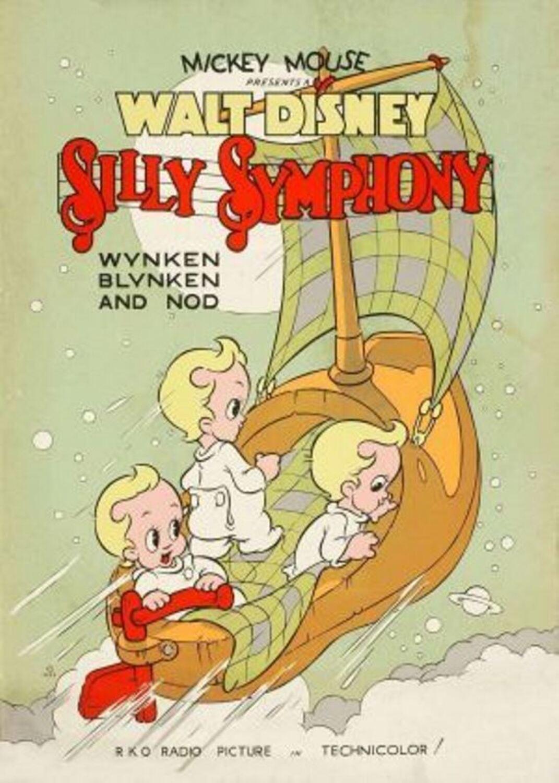 affiche poster pays étoiles Wynken Blynken Nod disney silly symphony