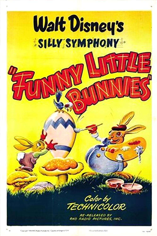 affiche poster petits lapins joyeux funny little bunnies disney silly symphony