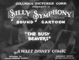 affiche poster plein boulot busy beavers disney silly symphony