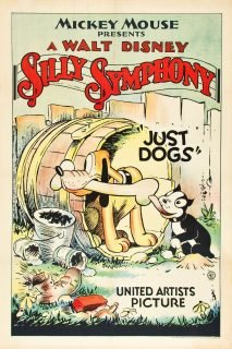 affiche poster rien chien just dogs disney silly symphony