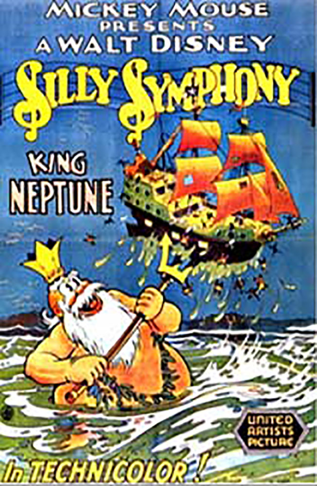 affiche poster roi neptune king disney silly symphony