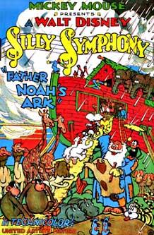 affiche silly symphony noe arche Walt Disney Animation poster