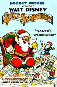 affiche silly symphony atelier noel Walt Disney Animation poster