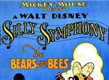 affiche silly symphony bears bees Walt Disney Animation poster