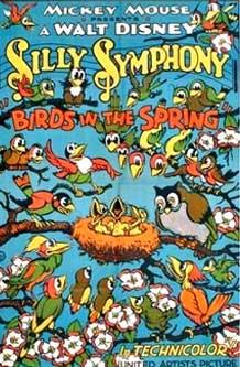 affiche silly symphony bird spring Walt Disney Animation poster