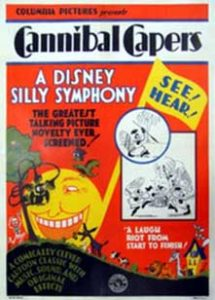 affiche silly symphony canibal Walt Disney Animation poster