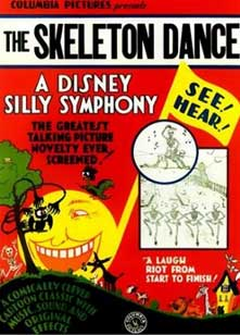 affiche silly symphony danse macabre Walt Disney Animation poster
