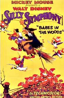 affiche silly symphony enfant bois Walt Disney Animation poster