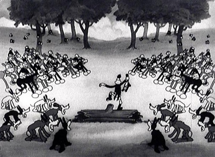 affiche silly symphony fox hunt Walt Disney Animation poster