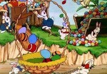 affiche silly symphony lapin joyeux Walt Disney Animation poster