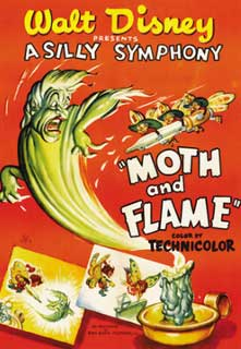 affiche silly symphony moth flame Walt Disney Animation poster