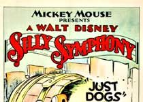 affiche silly symphony rien chien Walt Disney Animation poster