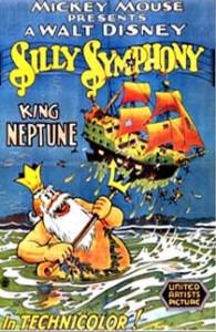 affiche silly symphony roi neptune Walt Disney Animation poster