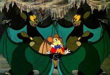 affiche silly symphony souris volante Walt Disney Animation poster