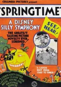 affiche silly symphony springtime Walt Disney Animation poster