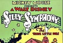 affiche silly symphony trois petits cochons Walt Disney Animation poster