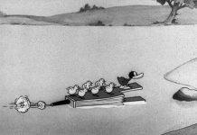 affiche silly symphony vilain canard Walt Disney Animation poster