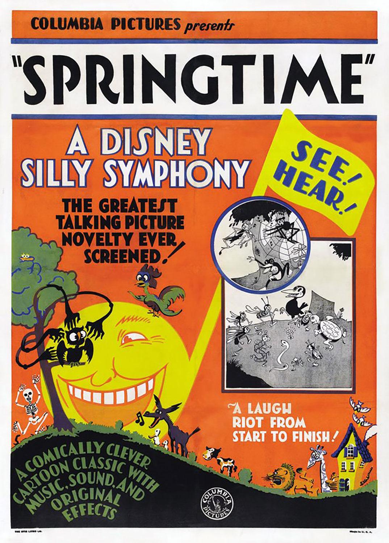 affiche poster silly symphony springtime disney
