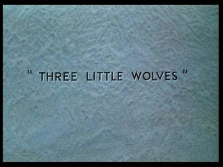 affiche poster trois petits loups three little wolves disney silly symphony