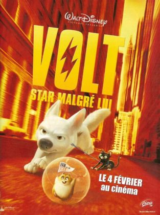 Affiche Volt Star malgré lui Disney Poster Bolt