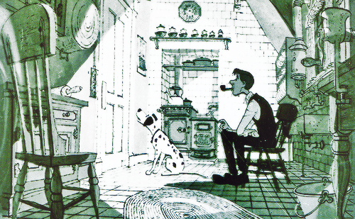Artwork Concept art Les 101 dalmatiens Disney One hundred one dalmatians