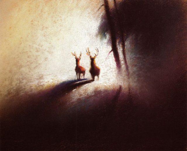 Artwork Concept art Bambi Disney