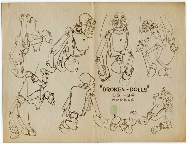 artwork broken toys disney silly symphony