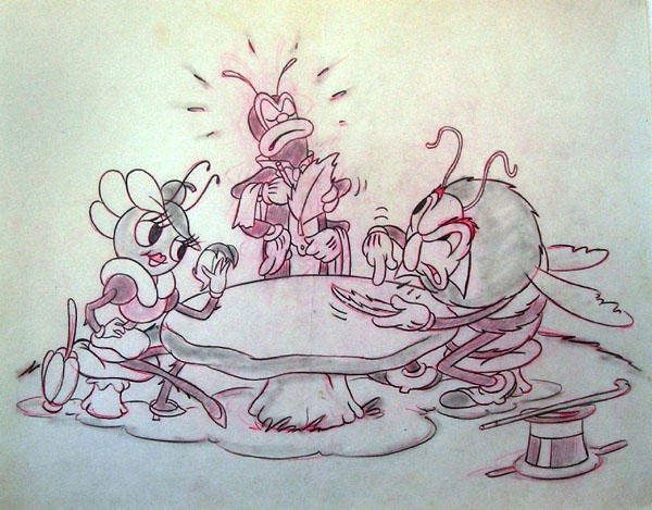 artwork cabaret nuit woodland cafe disney silly symphony