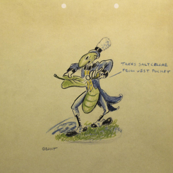 artwork cigale fourmi grasshopper ants disney silly symphony