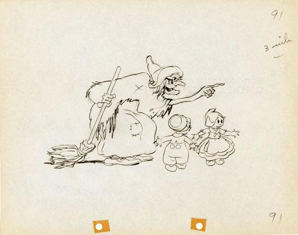artwork enfants bois hansel gretel disney silly symphony