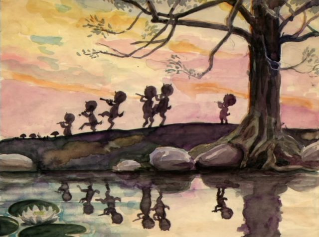 Artwork Concept art Fantasia Disney