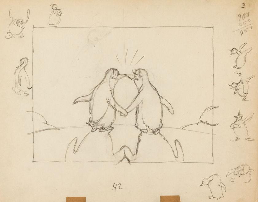 artwork histoire pingouins peliculiar penguins disney silly symphony