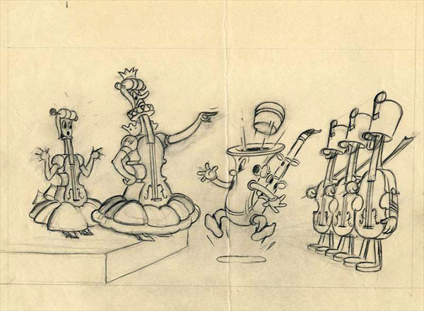artwork jazz band contre symphony land music disney silly