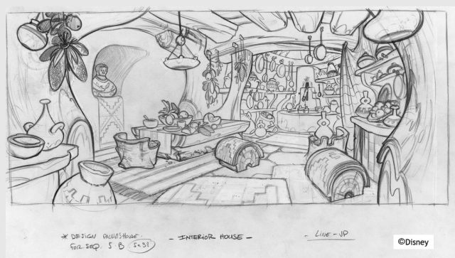 Artwork Concept art Kuzco Empereur Mégalo Disney Emperor new groove