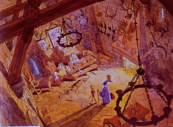 Artwork Concept art Merlin l'enchanteur Disney The sword in the stone