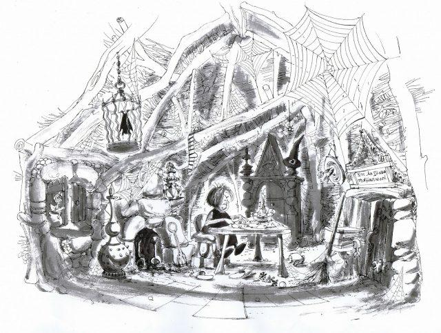 Artwork Concept art Merlin l'enchanteur Disney The sword in the stone